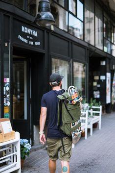 Scumbag - Skateboard rolltop backpack