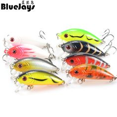 BlueJays 8pcs 8 color Plastic bait 5cm / 3.5g Minnow Lure bionic bait lure hard bait Fishing Tackle fishing bait free shipping