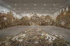 A New Large-Scale Mud Mural by Yusuke Asai Sprawls through Rice Gallery Kumamoto, Japan Design, What Is Installation Art, Art Installations, Hi Fructose, Underwater Painting, Colossal Art, Japanese Artists, Art Festival