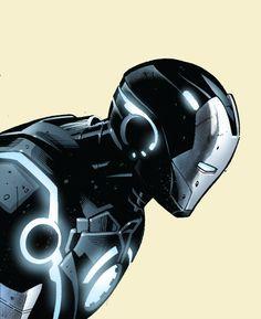 Iron Man Armor Model 43 (Stealth Armor) by Greg Land