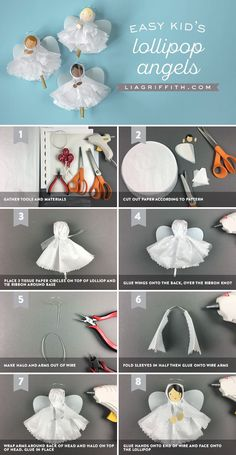 Pattern for #tissuepaper angels at www.LiaGriffith.com: