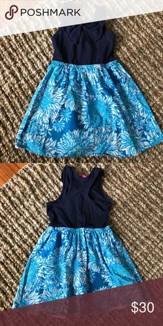 Lilly Pulitzer Dress Pretty in Blues! Very sweet dress and comfortable Lilly Pulitzer Dresses Casual