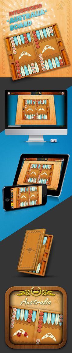 Backgammon Live- Australia Board on Behance
