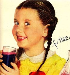 Welch's Grape Juice Ad... is she happy or frightened?  LOL!