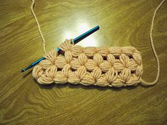free pattern for this puff stitch--great for hot pads or a bathmat perhaps