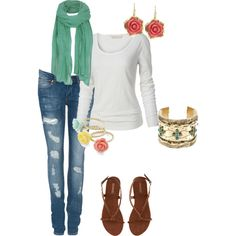 """""""casual and coloful"""" by jacoberly on Polyvore"""