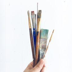 Happy Weekend.  Got plans?  I've got a date with these.  #toolsofthetrade #artstudio