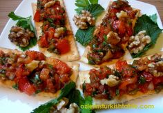 Ezme; Delicious Spread of Tomatoes, Onions, Peppers and Herbs with Red Pepper Paste...