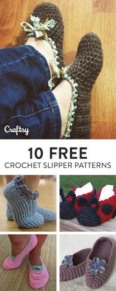 Your toes will LOVE these patterns for crochet slippers. They're quick, cute, cozy and FREE — and they're all available on Craftsy.