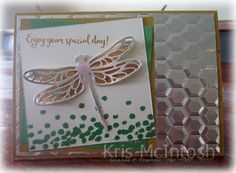Today I decided to play along with a sketch challenge at Fab Friday. It gave me a chance to use the Dragonfly Dreams stamp set. I also used the colour challenge at Global Design Project to kick s…