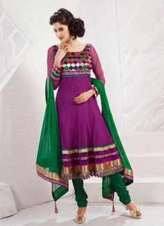 9eac467a8fe7b Purple Net Plus Size Salwar Kameez With Matching Dupatta Wedding Salwar  Kameez