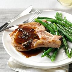 Pork Chops with Honey-Balsamic Glaze Recipe from Taste of Home
