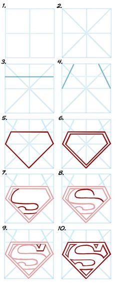 how to draw | This tutorial will teach you how to draw Superman S.