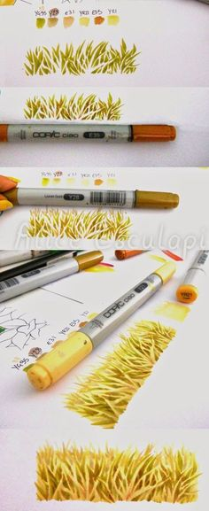 Copic grass tutorial