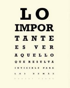 Lo importante es ver ......
