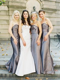A formal ballroom wedding held at the Anderson House in Washington D., with timeless details and elegant design. Bridesmaid Dresses, Wedding Dresses, Bridesmaids, Ballroom Wedding, Gray Weddings, Wedding Images, Wedding Inspiration, Glamour, Elegant