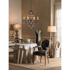 Feiss Chateau Collection Mocha Bronze Crystal Chandelier