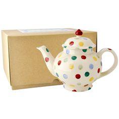 56a87aceff00 Polka Dot 4 Cup Teapot Boxed Ceramic Teapots, Cath Kidston, Buy Tea, Glass