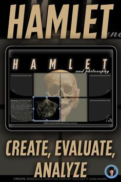 HAMLET GOOGLE SLIDES ASSIGNMENTCREATE, EVALUATE, ANALYZE Are you looking for an interesting project to wrap up your book study? I assign this at the end of the semester instead of a final essay. This assignment will test your students' writing and editing skills, but also reveal their ability to analyze the more nuanced and symbolic passages from HAMLET. This assignment is perfect as an engaging and creative, culminating activity. CLICK TO SEE MORE! English Teaching Resources, Teaching Tips, Teacher Resources, Editing Skills, How To Get Followers, School Levels, English Course, High School English, Book Study