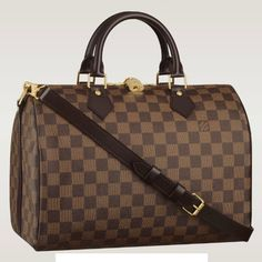 f6c22a2dabf Louis Vuitton Damier Ebene Speedy with shoulder strap bandouliere sale at -  Free Worldwide shipping. Get today Louis Vuitton Damier Ebene Speedy with  ...