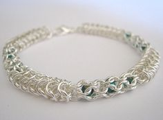 Ivy Trellis Chainmaille Czech Glass Beaded by TheAlchemistsVessel