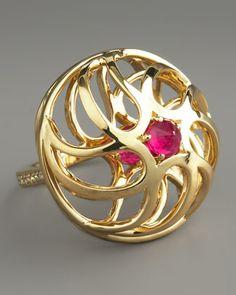Contarini Ruby & Diamond Ring by Paolo Costagli at Neiman Marcus.