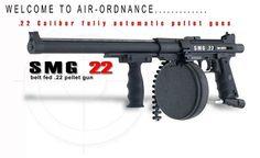 SMG 22 Caliber Full Auto Belt Fed Pellet Gun pictures