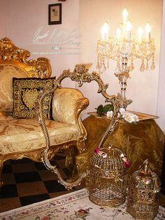 deko f r weihnachten in wei gold von julstyle www. Black Bedroom Furniture Sets. Home Design Ideas
