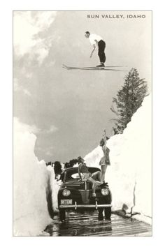 Decorate your home or office with Vintage Ski World's archival photo reproductions of this classic babes and a ski jumper. Plus shop our entire vintage ski poster collection. Vintage Ski Posters, Cool Posters, Sports Posters, Travel Posters, Vintage Photography, White Photography, Photography Tips, Digital Photography, Sun Valley Idaho
