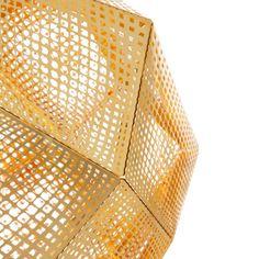 Lámpara colgante TOM DIXON Etch Brass #material #iluminacion #interiorismo #diseño