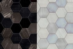 Hexagon tile with te