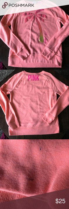 Victoria's Secret sweatshirt size S Los Angeles Victoria's Secret Pink sweatshirt size S Los Angeles, gently loved, two tiny marks on the right sleeve as shown in photo, otherwise in great condition, all sequins are intact PINK Victoria's Secret Tops Sweatshirts & Hoodies