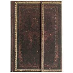 PAPERBLANKS Notizbuch Schwarzes Marokkoleder, midi liniert #paper #book #journal #gift