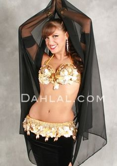 VINTAGE VISION Bra and Belt Set by Pharaonics of Egypt, Egyptian Belly Dance Costume, Available for Custom Order - Dahlal Internationale Store