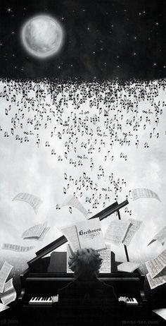 Lluvia de Notas Musicales