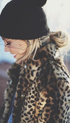 PERFECT PAIRING: VEILED BEANIE + LEOPARD COAT