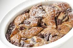 Nutella Bread Pudding ~ http://steamykitchen.com