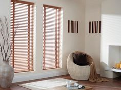Venetian blinds against an all white room #windowtreatments #blinds