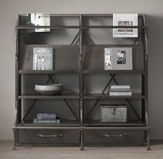 French Library Magazine Display Rack