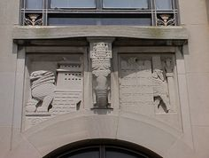 Asia Spandrel, on the Perelman Building, Philadelphia, by Lee Lawrie.