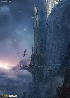 Castle of Frejlord - fantasy art
