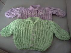 Coisas pra divulgar: Casaquinhos de tricô para bebês
