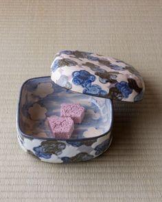 vessel = Kenzan copy statement apricot food basket Yongle immediately Zensaku Showa era