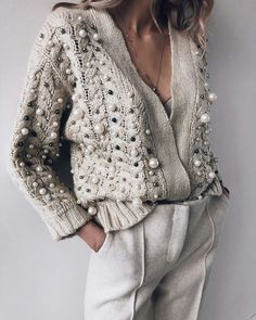 Latest fashion trends in women's Sweaters. Shop online for fashionable ladies' Sweaters at Floryday - your favourite high street store. Look Fashion, Trendy Fashion, Winter Fashion, Fashion Outfits, Womens Fashion, Trendy Style, Fashion Shoes, Beach Fashion, Classy Fashion