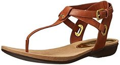Lauren Ralph Lauren Womens Kiana Flip Flop Polo Tan Burnished Vachetta 5 B US *** You can find out more details at the link of the image.