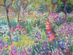 """Monet, Claude: """"The artist's garden at Giverny"""", 1900 , Yale Art Galleries 37"""