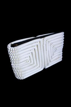 1940's Telephone Cord, Clutch Bag - That is a cool way to repurpose! #upcycled