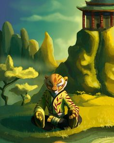 Tigress meditating
