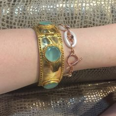 Julie Vos Turquoise Baroque Bangle Beautiful bracelet, pictures don't do it justice! From summer 2015 Julie Vos collection at Neiman Marcus. Julie Vos Jewelry