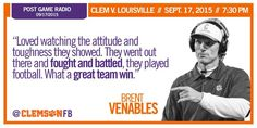 Quote of the Game: Clemson vs. Lousiville